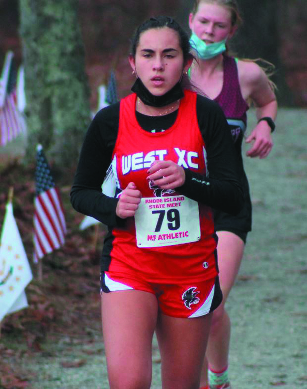 ON THE RUN: Cranston West's Catherine Consiglio