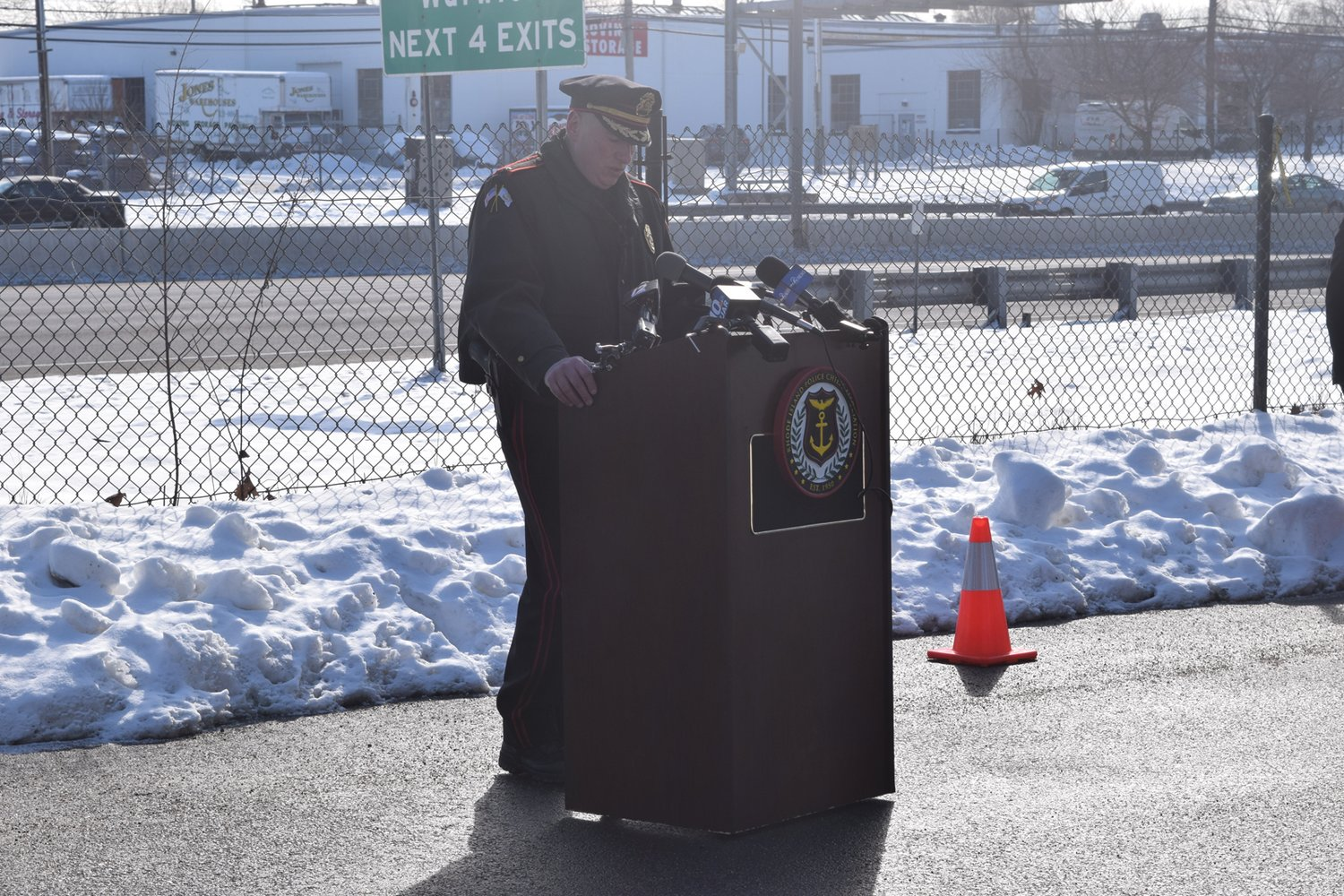 HELPFUL ADVICE: RIPCA President and West Greenwich Police Chief Richard Ramsay said drivers can help reduce roadway fatalities by refusing to drive impaired, wearing a seatbelt and turning off their phones before starting the car.