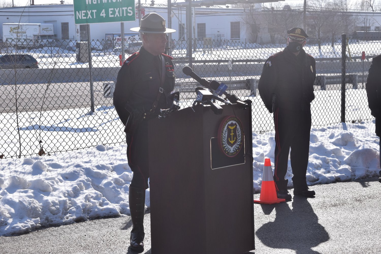 PATROLLING THE ROADS: Rhode Island State Police Superintendent Col. James Manni said he has worked with Department of Transportation Director Peter Alviti to form the traffic safety unit dedicated to catching impaired drivers.