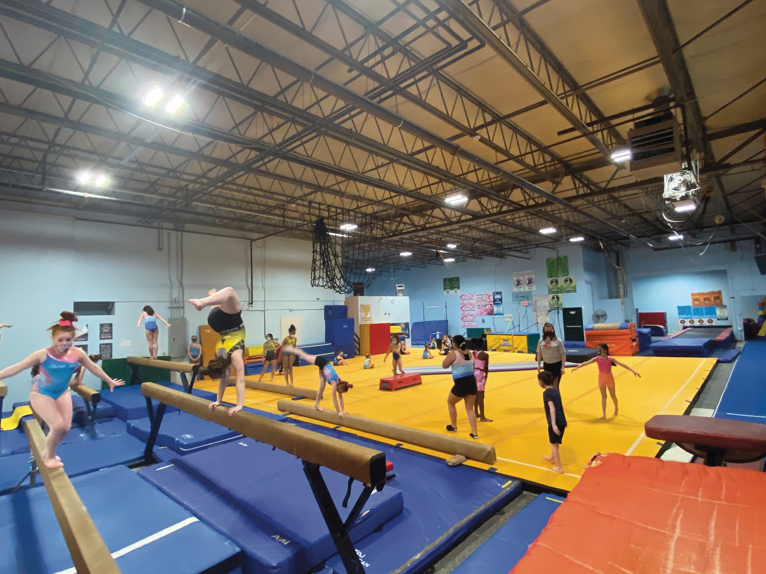 OVERCOMING THE CHALLENGE: Despite the challenges of COVID-19, Dream Big Gymnastics in Cranston has experienced great success. Its enrollment numbers are at an all-time high.