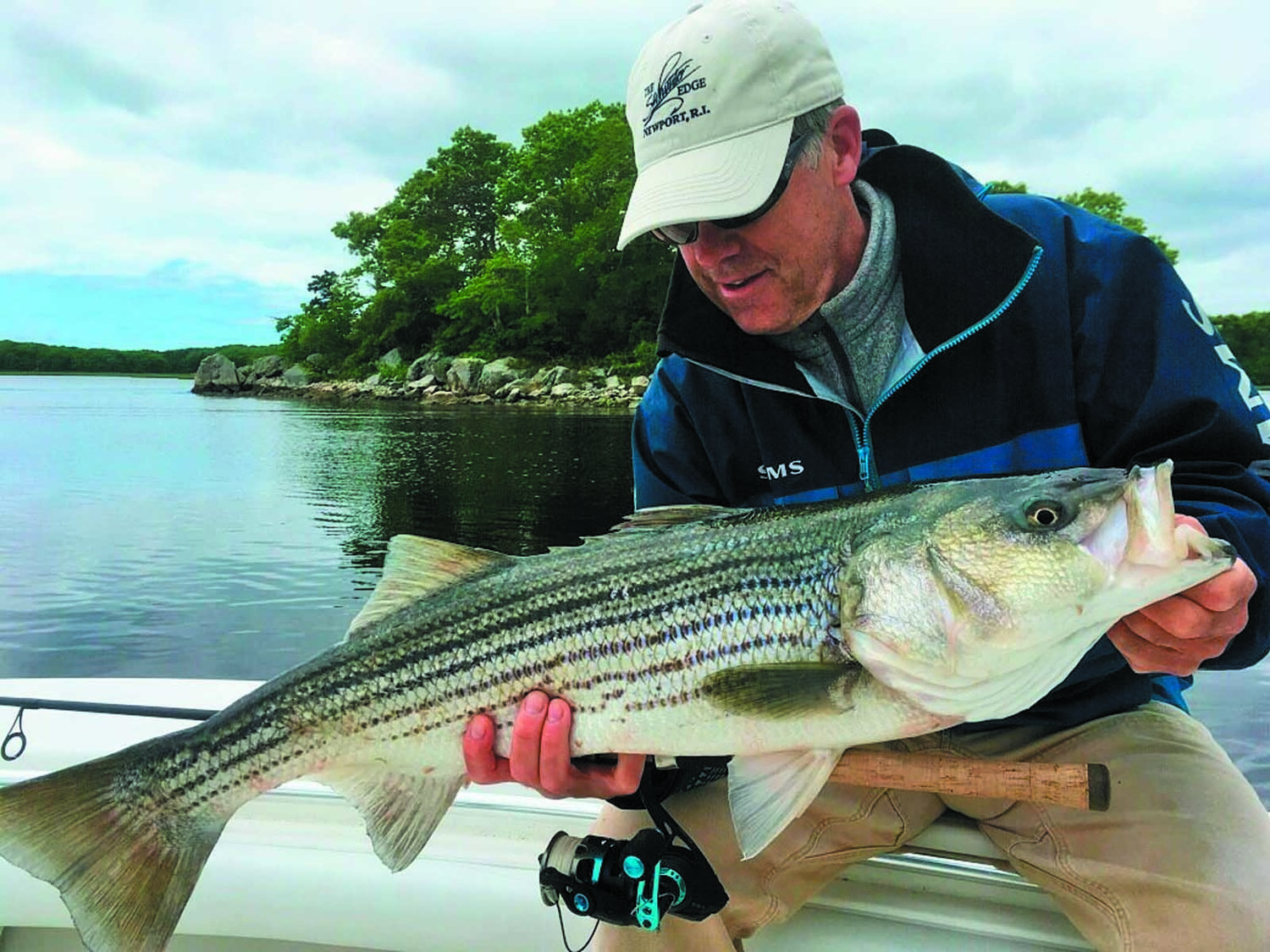 WEIGHING IN ON STRIPED BASS:  Peter Jenkins, chairman of the board of the American Saltwater Guides Association and owner of the Saltwater Edge, Middletown, RI was one of several recreational fishing community leaders speaking up for striped bass conservation last week.