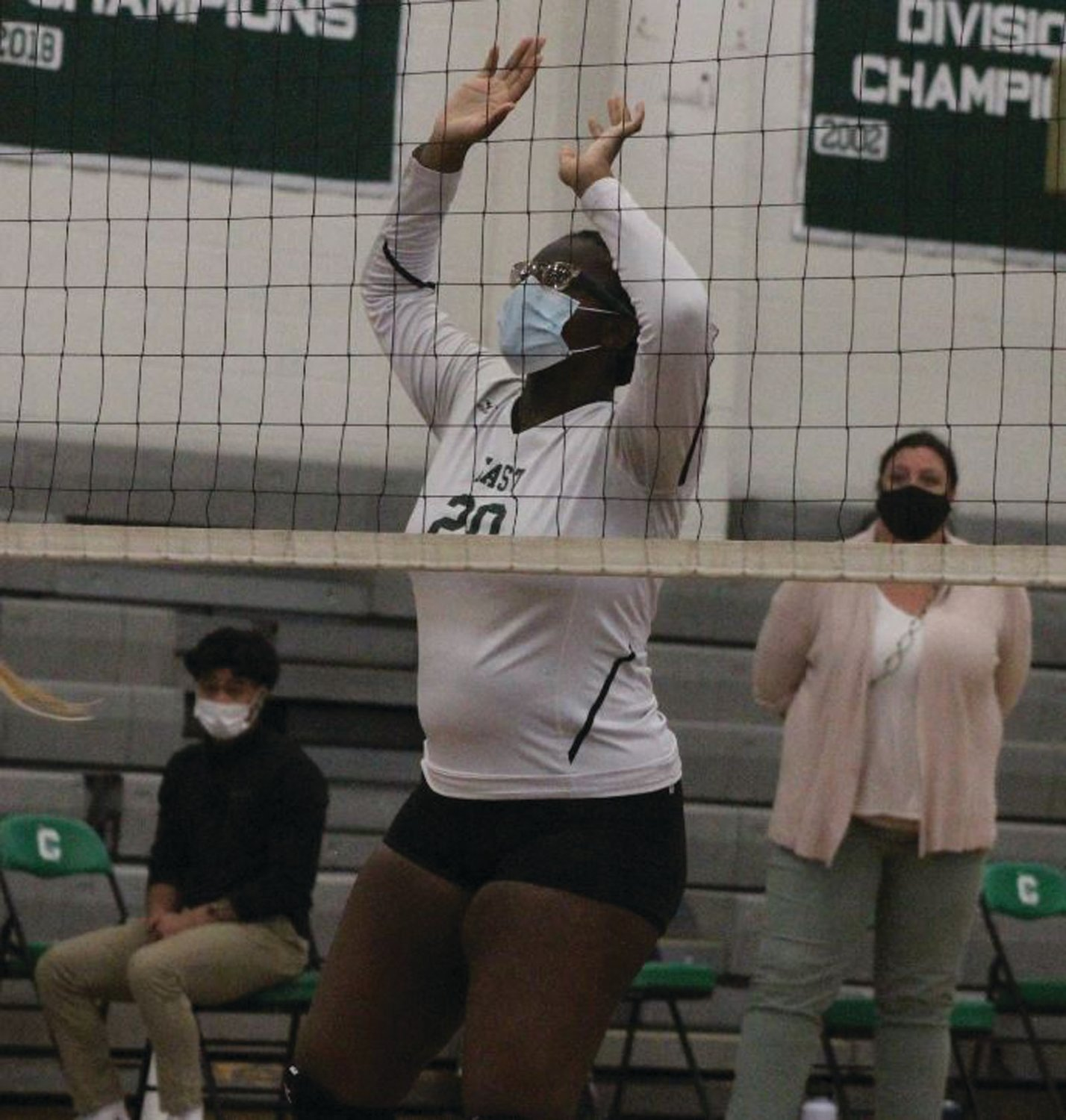 AT THE NET: Cranston East's Samantha Sainristil.