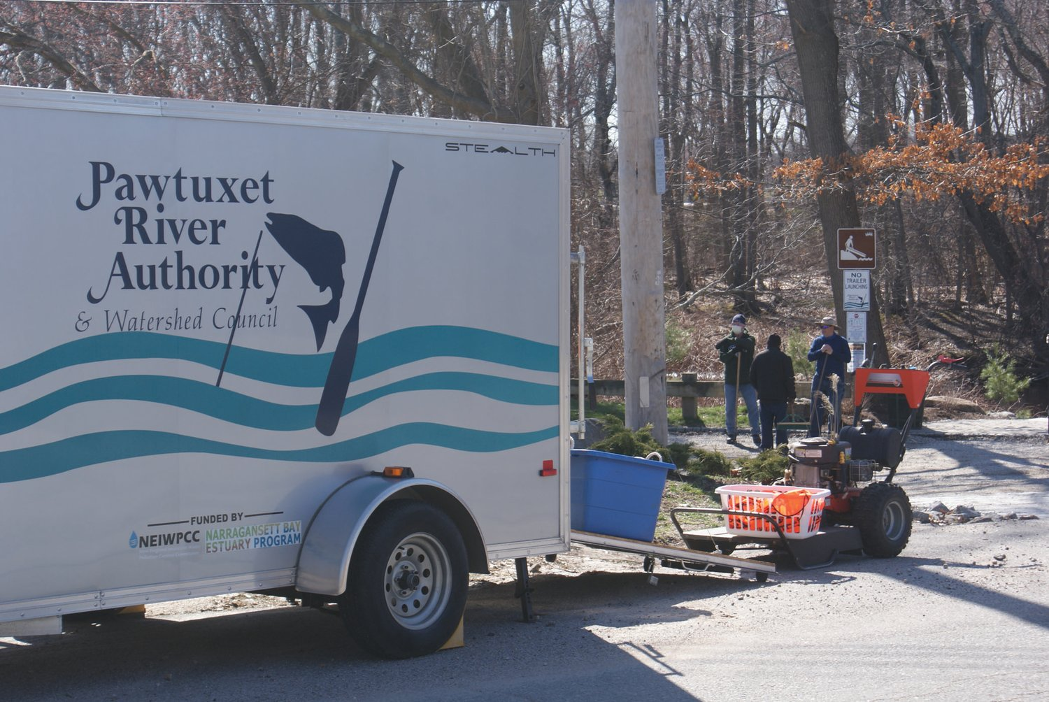 TRUCKLOAD: Volunteers from the PRA spent last Saturday cleaning up the canoe launch.